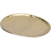 PLATE OVAL 16CM GOLD
