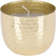 CANDLE IN METAL BOWL GOLD