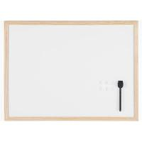 MAGNETIC WHITE BOARD WITH WOODEN FRAME 450X600MM