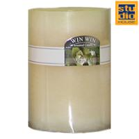 STUDIO HOUSE WIN CANDLE BEIGE 6.8X9.5CM (VANILLA)