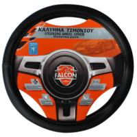 FALCON STEERING WHEEL COVER  BLACK PERFORATED