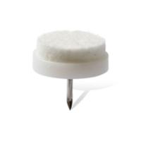 P W 8PCS 28mm FELT GLIDER WITH NAIL WHITE
