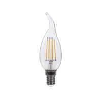 J&C LED 4W FILAMENT CANDLE BULB CA35 E14 400LM 2700K CLEAR
