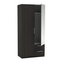 WARDROBE 2DOORS 2DRAWERS NEW YORK DARK OAK
