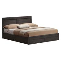 BED WITH 2 DRAWERS 150X200 WALLNUT