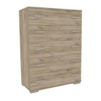 CHEST OF DRAWERS 124X90X45CM GREY