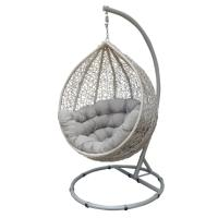 CASA HANGING CHAIR WHITE WITH GREY CUSHION