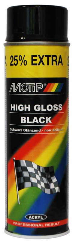 MOTIP SPRAY GLOSS BLACK 500ML