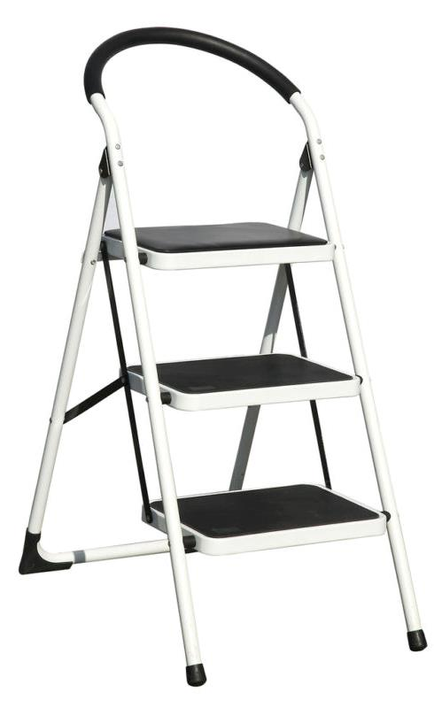 METAL FOLDING STOOL WITH 3 STEPS