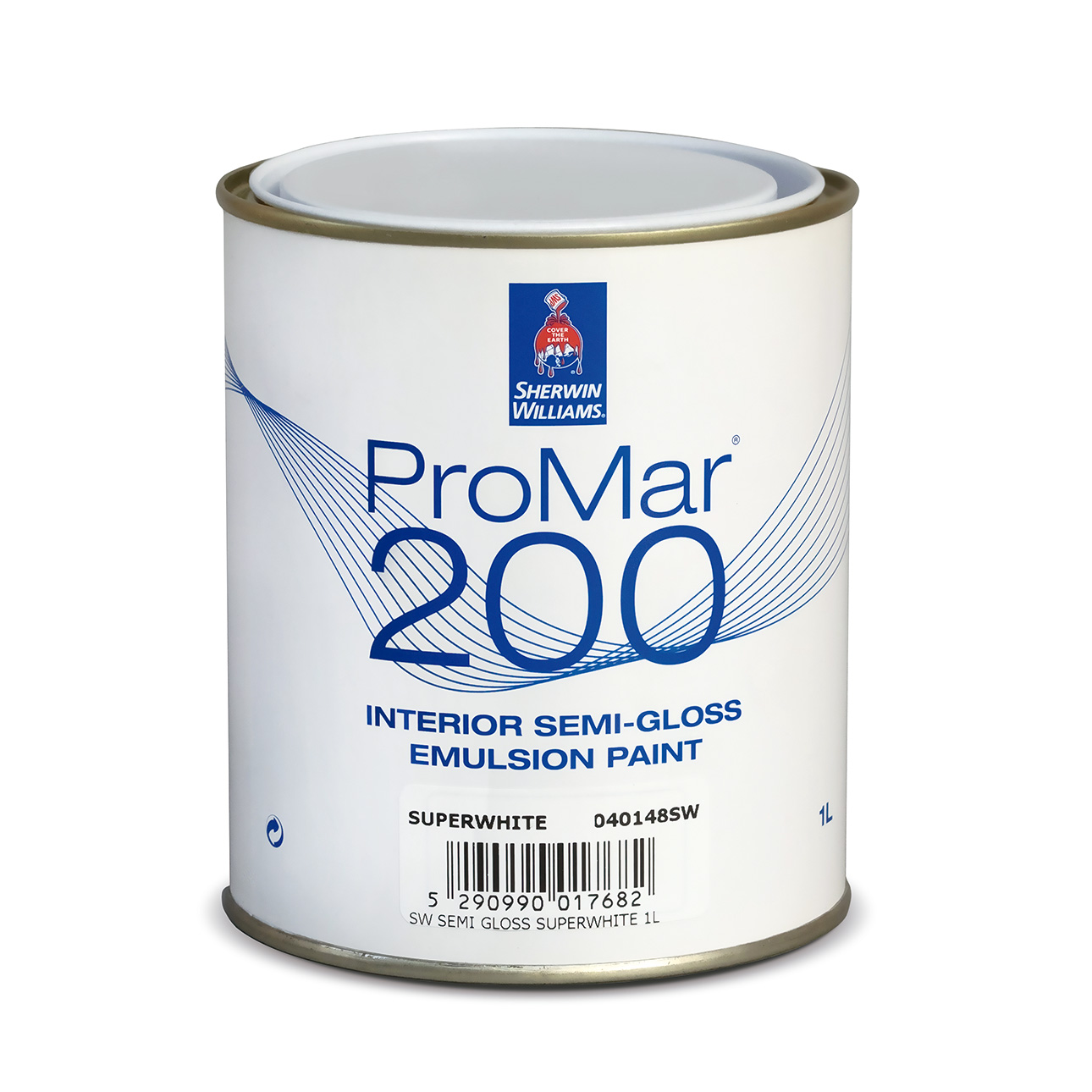 SHERWIN-WILLIAMS® PROMAR® 200 SEMI-GLOSS EMULSION EXTRA WHITE 1L