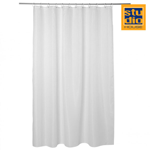STUDIO HOUSE GUOCHI SHOWER CURTAIN 180X180CM WHITE