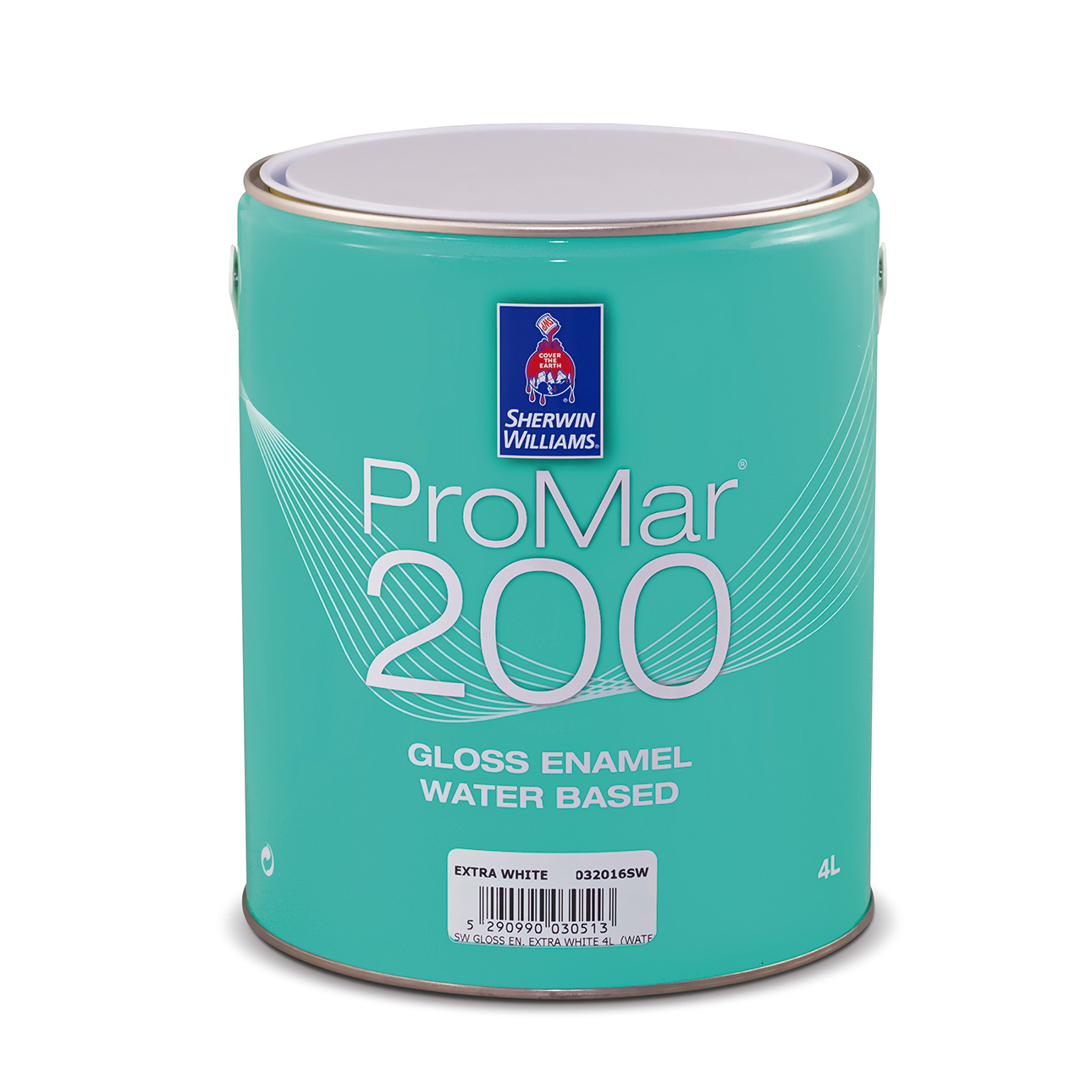 SHERWIN-WILLIAMS® PROMAR® 200 GLOSS ENAMEL WATER BASED SUPERWHITE 4L