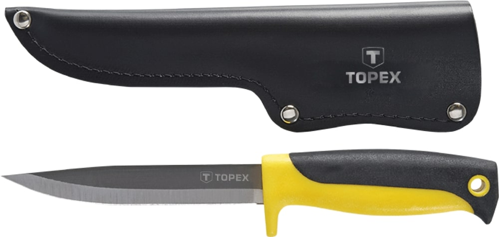 TOPEX KNIFE 120MM WITH LEATHE
