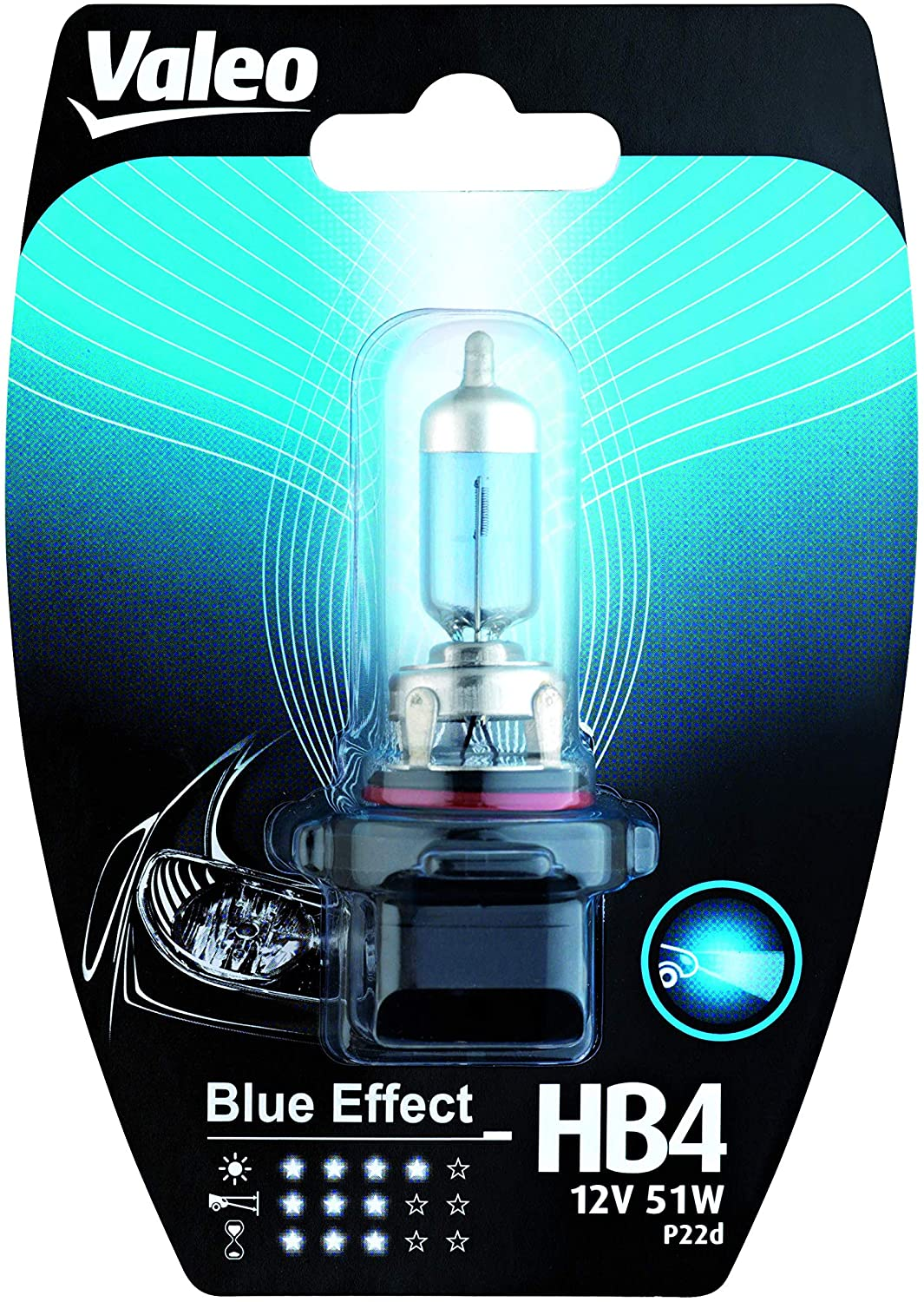 VALEO ΛΑΜΠΑ HB4 BLUE EFFECT 12V 51W BLISTER x1