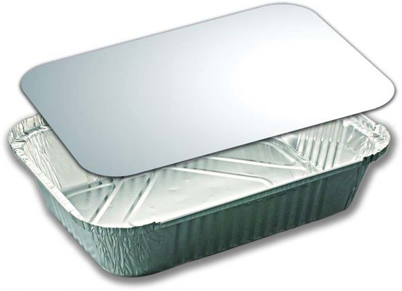 ALUMINIUM TRAY 129ML & LID X4PCS