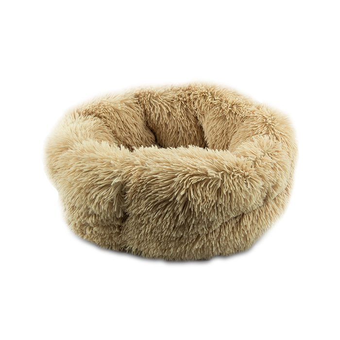 PET BED SHAGGY 45CM BEIGE