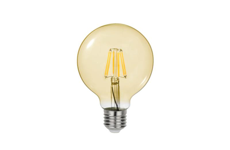 J&C LED 4W FILAMENT BULB G95 E27 380LM 2200K DIMMABLE AMBER