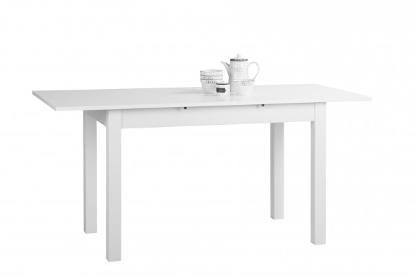 FINORI COBURG 120 - 160CM EXTENDABLE TABLE WHITE