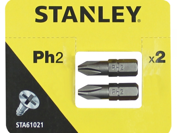 STANLEY SCREWDRIVER BITS PH2