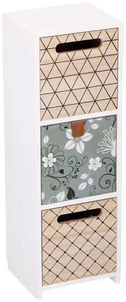 DECO WOODEN 3 DRAWER 11.5X10X34CM