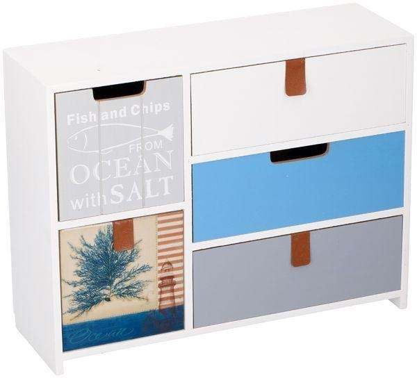DECO WOODEN 5 DRAWER 30X10X23.5CM