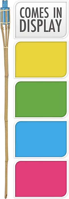 TORCH BAMBOO 120CM COLORED TIN