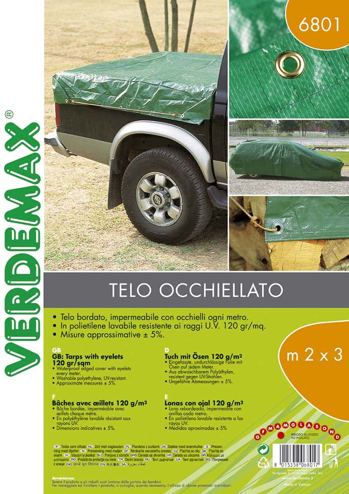 VERDEMAX COVER W EYELETS 120GR 3X4