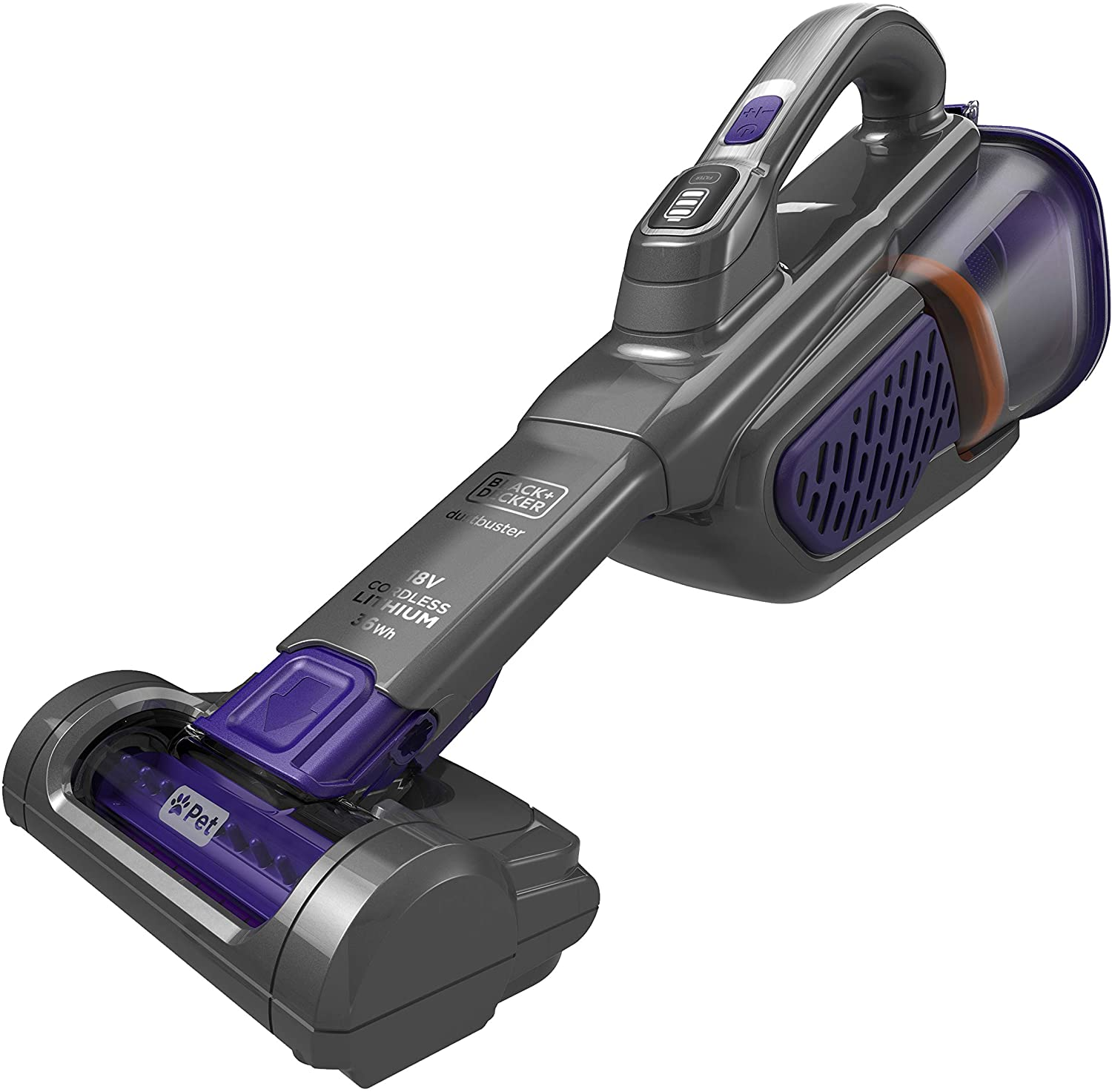 BLACK & DECKER DUSTBUSTER PET 18V 2.5Ah 0.5L